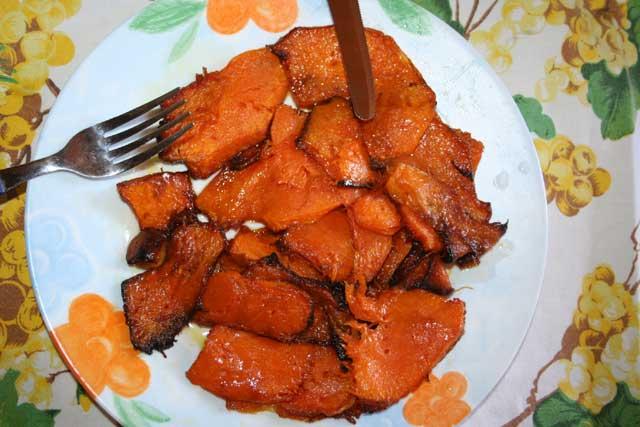 Cucuzza  russa fritta - Zucca rossa  fritta