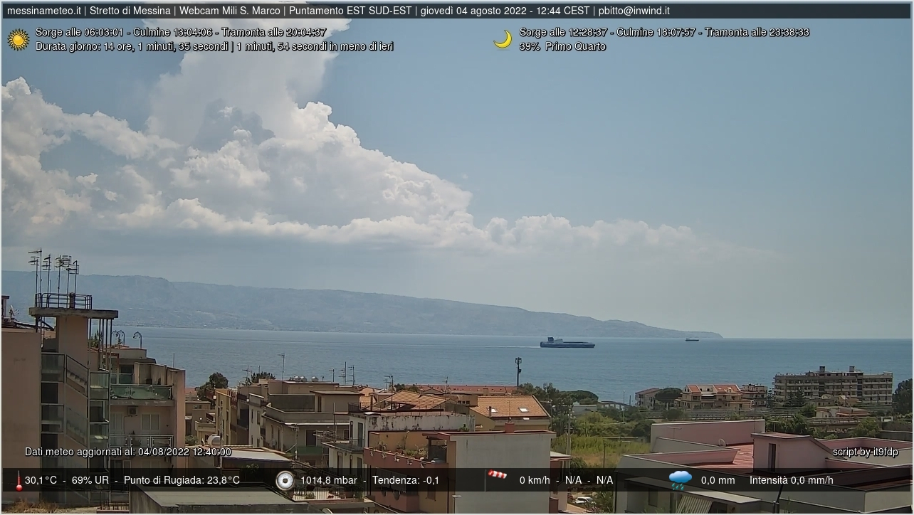 Webcam Messina, Sicilia