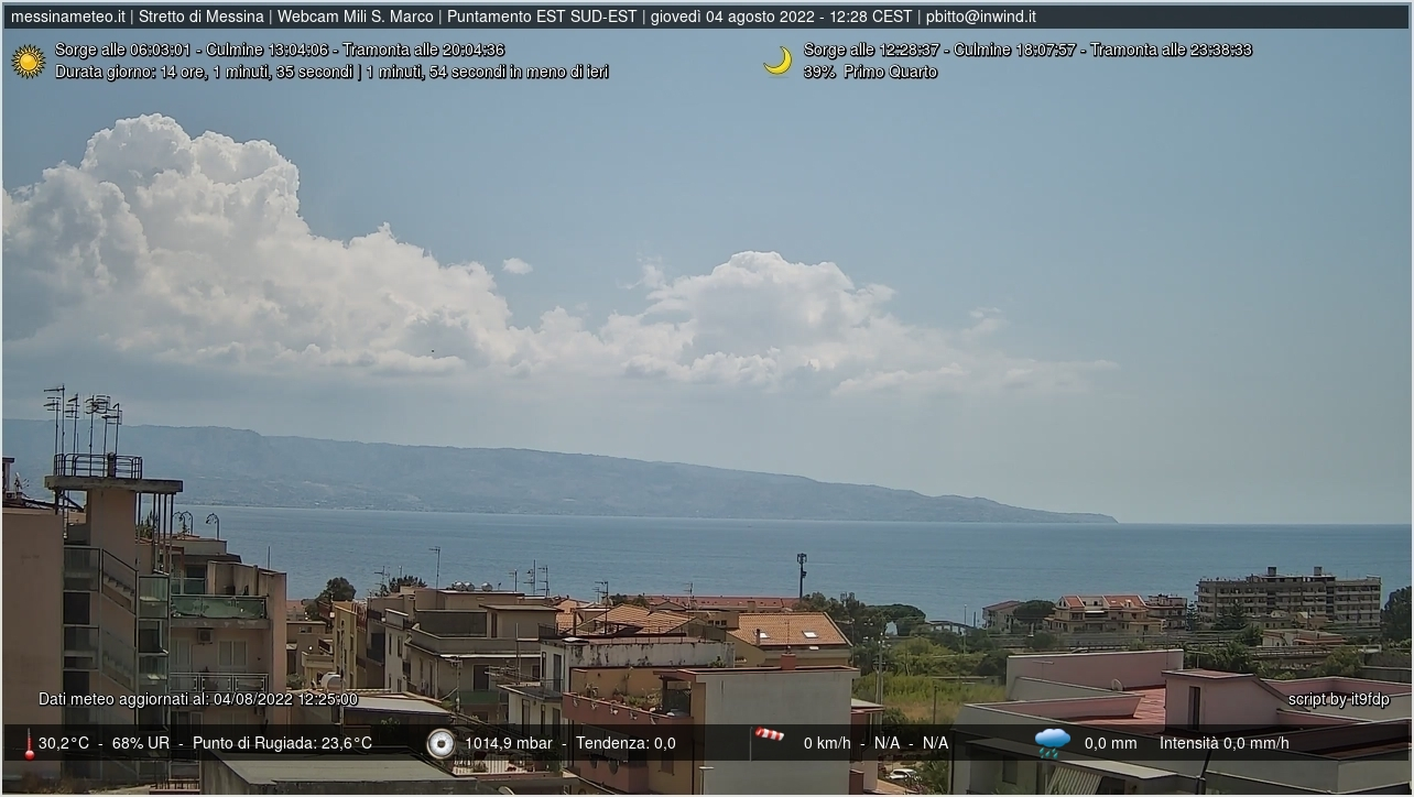 Webcam Messina - Stretto di Messina