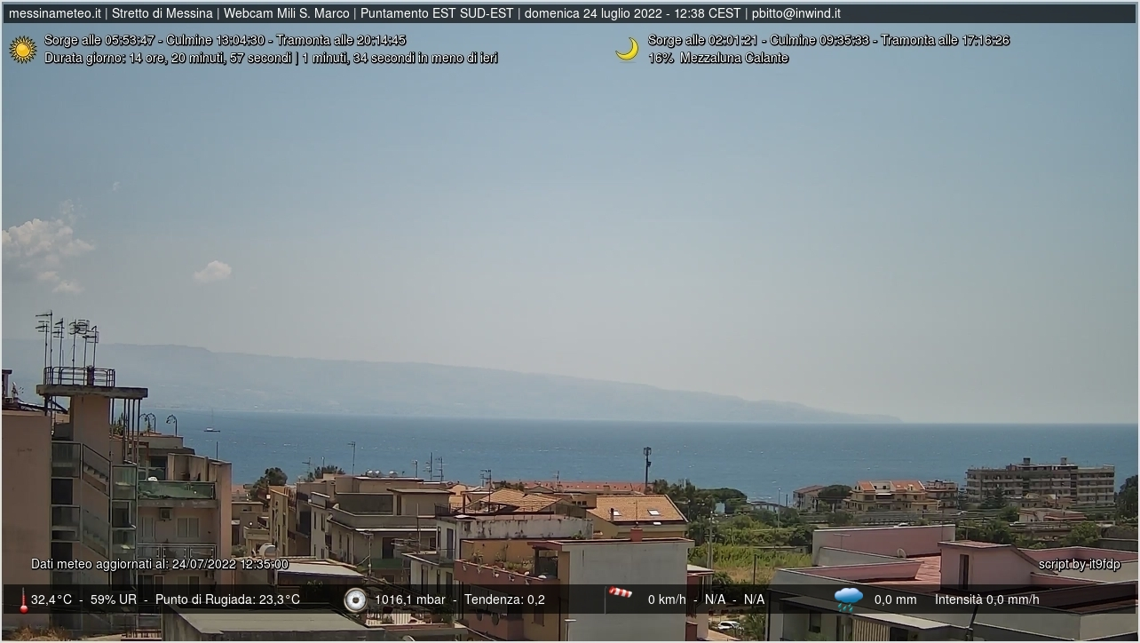 Messina webcam - Mili San Marco webcam, Sicily, Messina