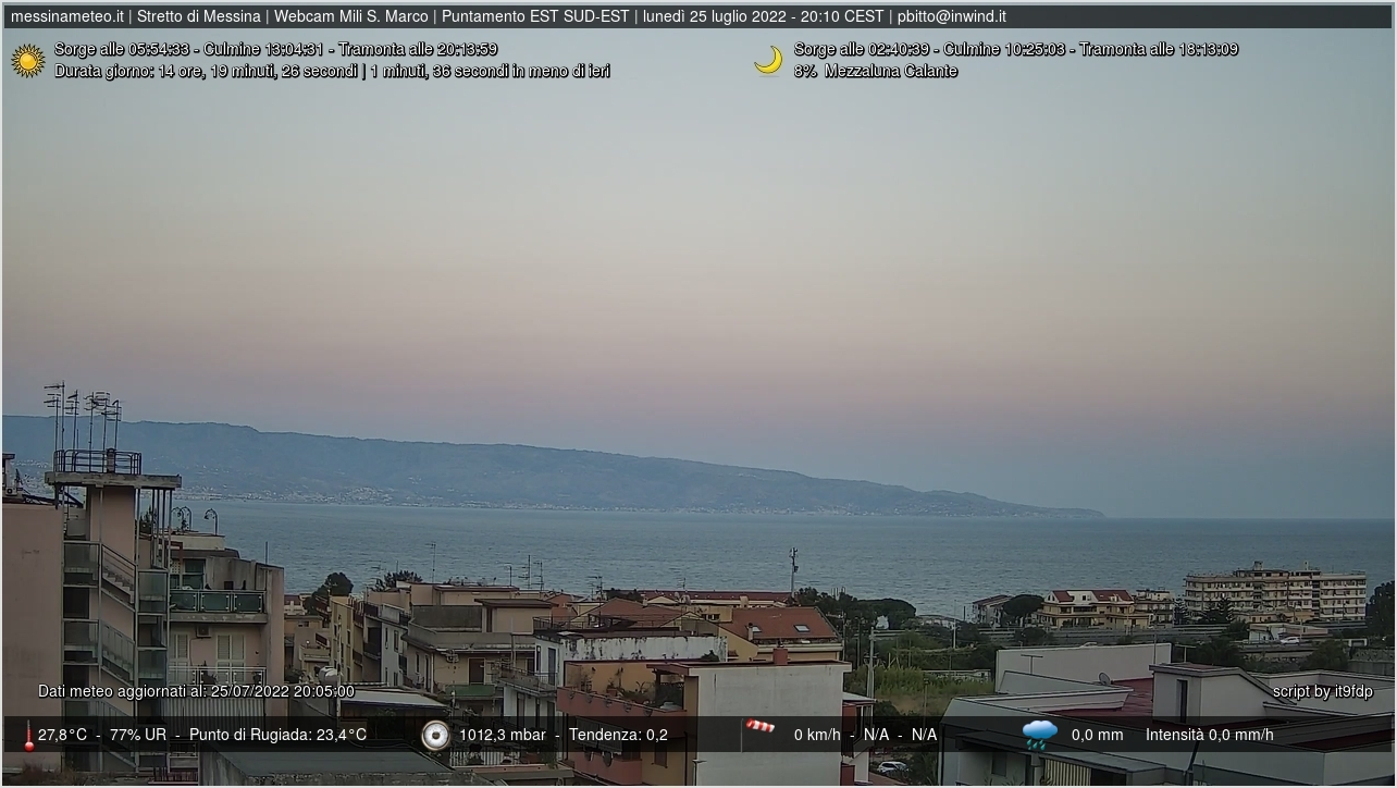 Webcam Mili San Marco e stretto di Messina