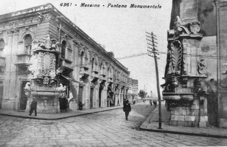 Messina sicilia foto antiche foto di messina quattro for Fontane antiche